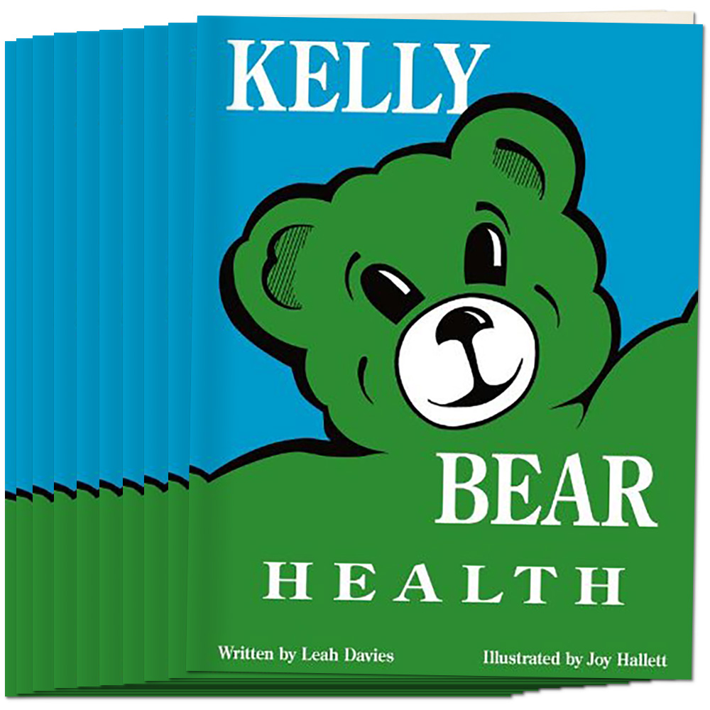 Kelly Bear Health Book, Set of 10
