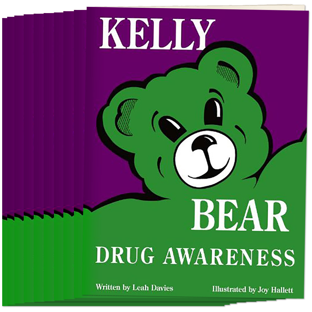 Kelly Bear Drug Awareness Book, Set of 10