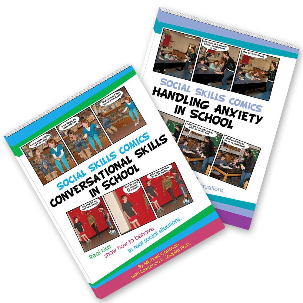 Social Skills Comics for Kids Set of 2 Books w/CD's