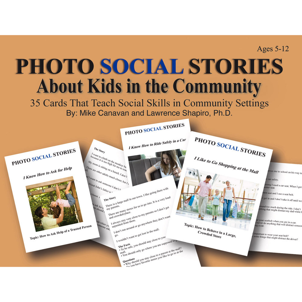 Photo Social Stories Cards About Kids in the Community Card Game