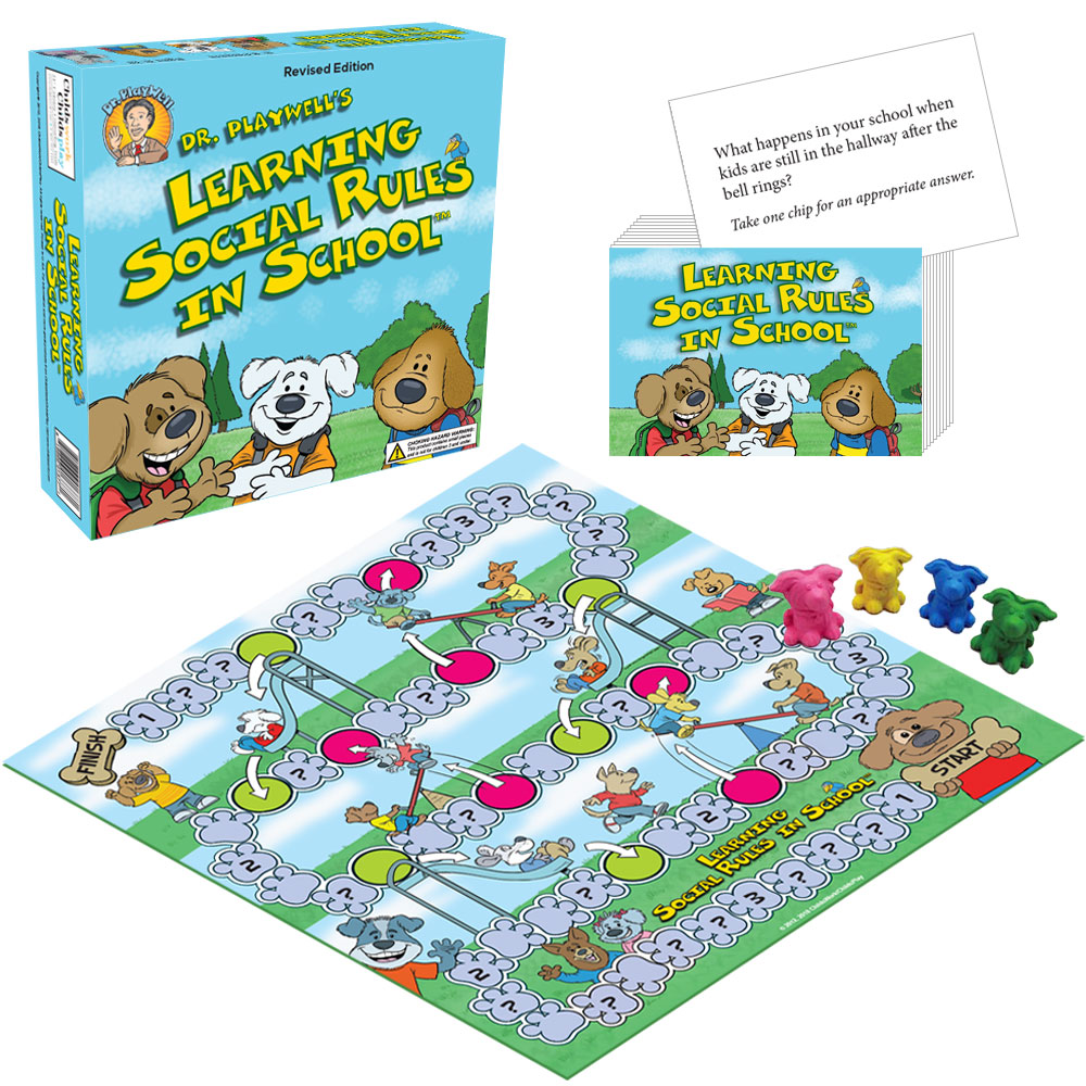 Dr. Playwell's Learning Social Rules in School Board Game