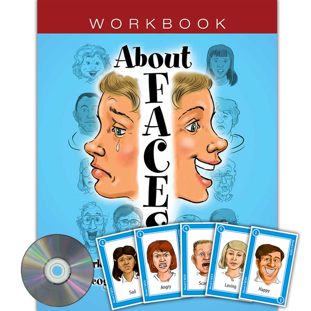 About Faces Card Game and Workbook Set