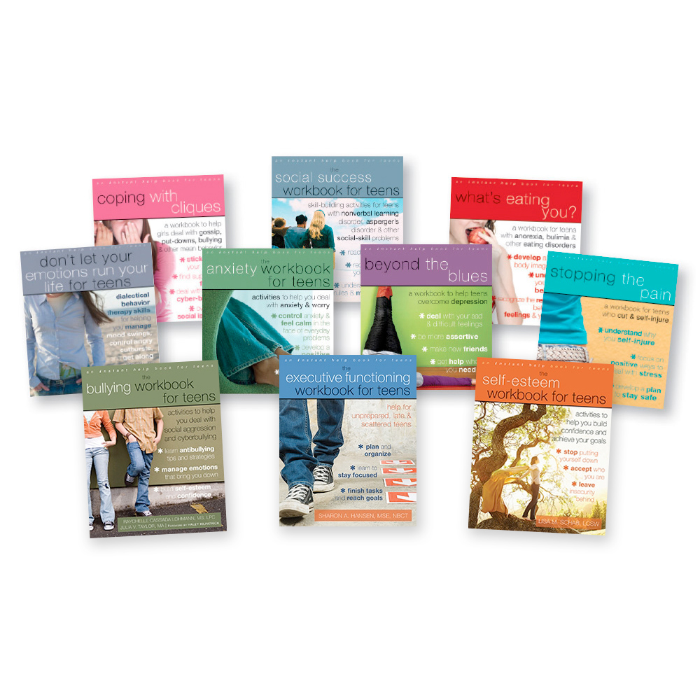 Emotional Intelligence Workbooks Teen Library   Set of 10 Books