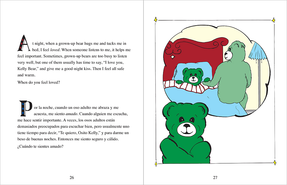 Bk Kelly Bear Feelings Bilingual Book