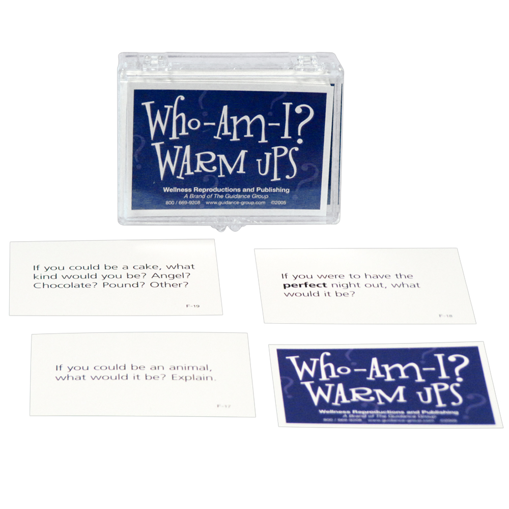 Who Am I? Warm Up Cards for Adults