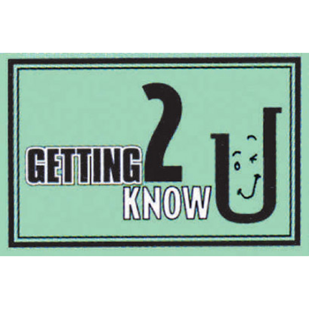 Getting 2 Know U Card Game