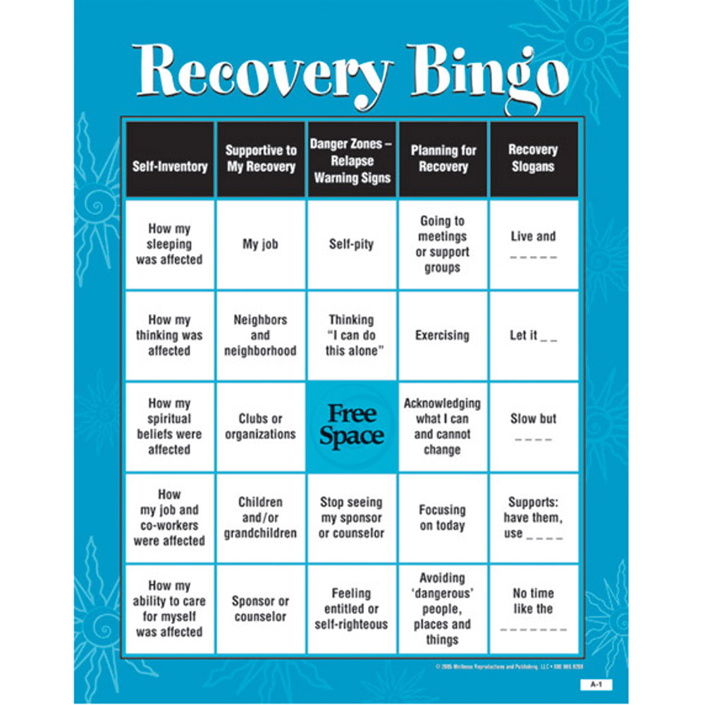 Developing Supportrecognizing Danger Zonesrecovery Skillsbingo Game