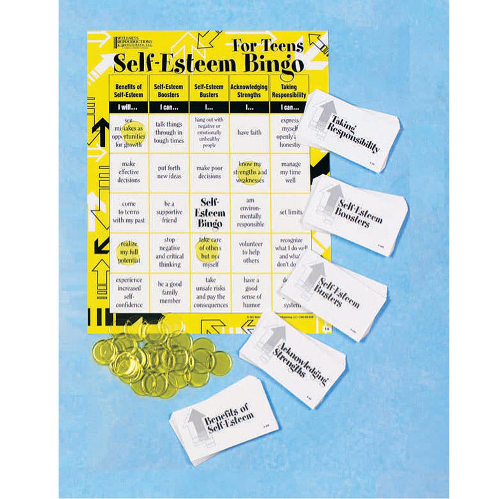 Workbooks self esteem workbook : Self-Esteem|Benefits|busters|Boosters|Responsibility|Teens|Bingo Game