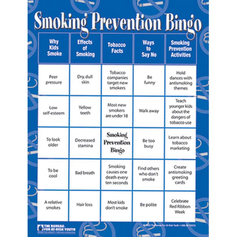 Smoking Prevention Bingo Game