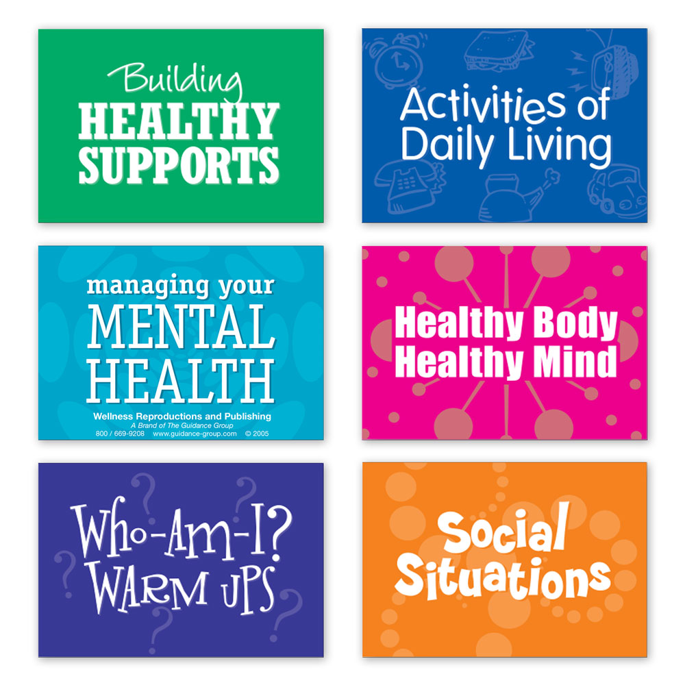 LifeSkills Card Decks for Adults Set of 6