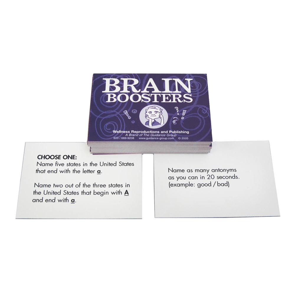 Brain   Boosting Activities for Groups Book & Cards