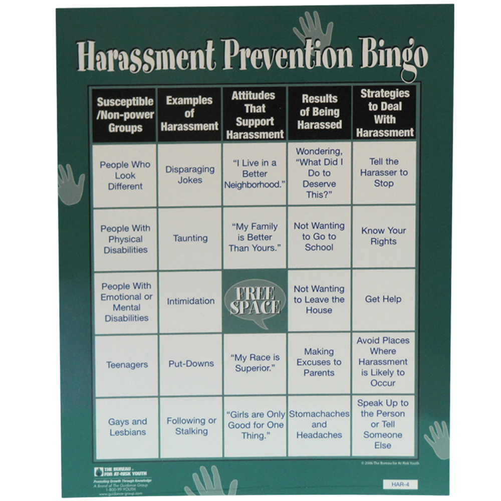 Harassment Prevention Bingo Game