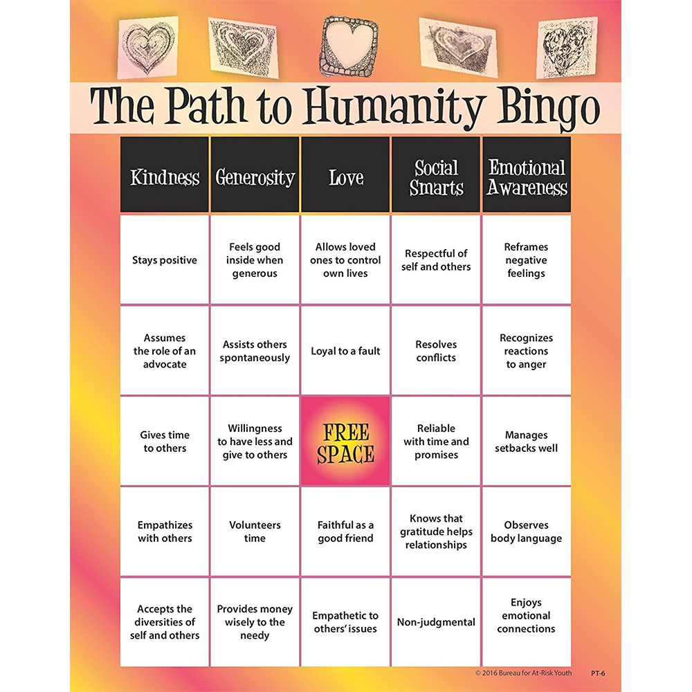 The Path to Humanity Bingo Game