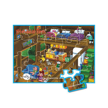 Who is Being Responsible and Respectful? Friendship Farm Puzzle Game