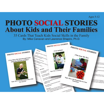 Photo Social Stories Cards About Kids & Their Families Card Game
