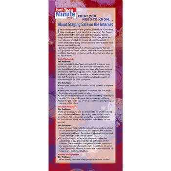 Smart Teen Minute Card: (50 Pack) What You Need to Know... About Internet Safety