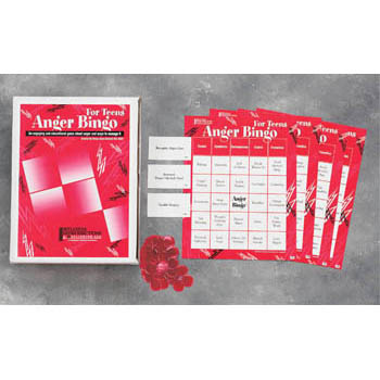 Anger Bingo Game for Teens