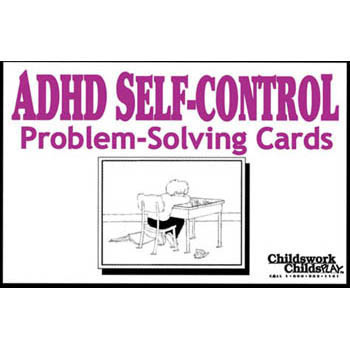 ADHD Self Control Problem Solving Cards