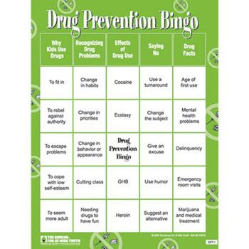 Drug Prevention Bingo Game