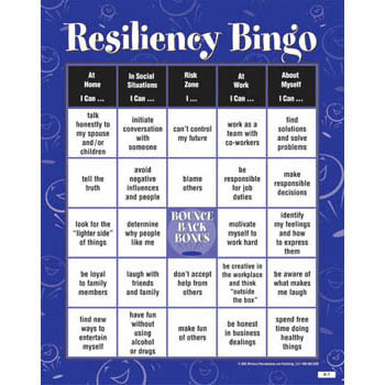 Resiliency BINGO! Game for Adults