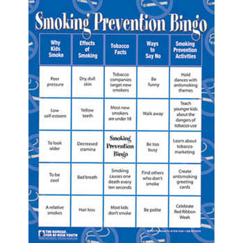 Smoking Prevention Bingo Game