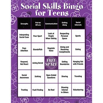 Social Skills Bingo Game for Teens
