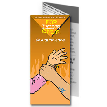 For Teens Only Pamphlet: Sexual Violence 25 pack