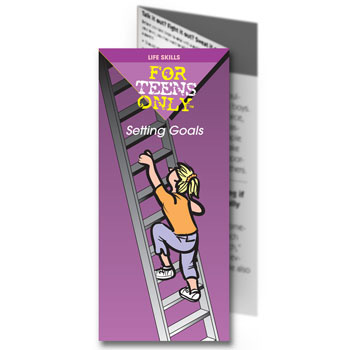 For Teens Only Pamphlet: Setting Goals 25 pack