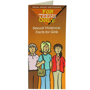 For Teens Only Pamphlet: Sexual Violence: Facts for Girls 25 pack