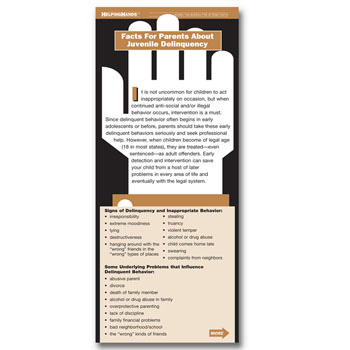 Helping Hands Card: Facts for Parents About Juvenile Delinquency 25 pack