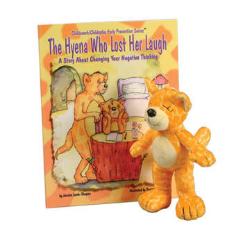 The Hyena Who Lost Her Laugh   Book & Plush Hyena