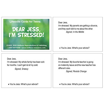 Dear Jess, I'm Stressed! Cards Middle School