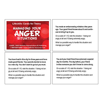 Managing Your Anger Situations Cards Middle School
