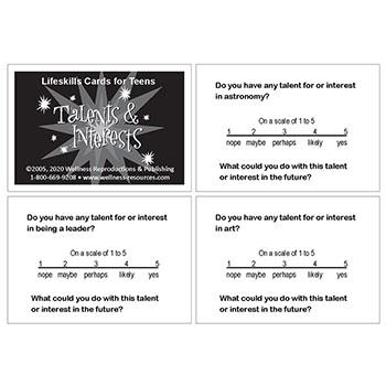Lifeskills Cards for Teens: Talents & Interests