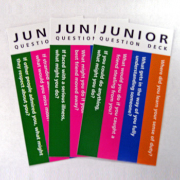 Junior Principles/Values/Beliefs Cards