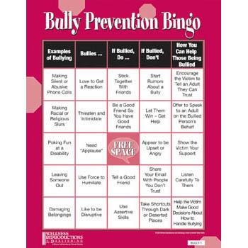 Bully Prevention Bingo Game