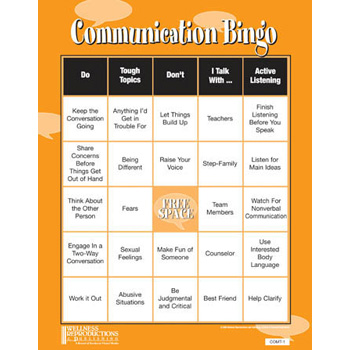 Communication Bingo Game
