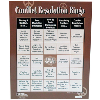 Conflict Resolution Bingo Game